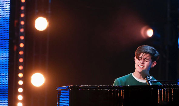 Reuben Gray performs on Britain's Got Talent