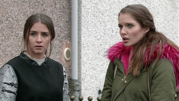 Brooke Vincent as Sophie and Helen Flanagan as Rosie