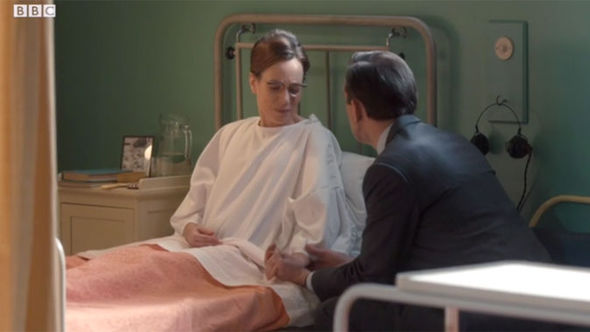 Shelagh and Dr Turner in the hospital