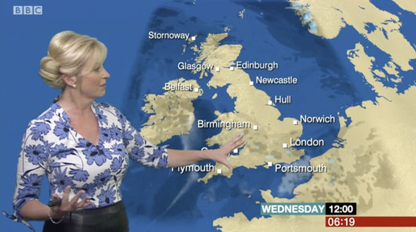 Carol Kirkwood was in the studio for today's forecast
