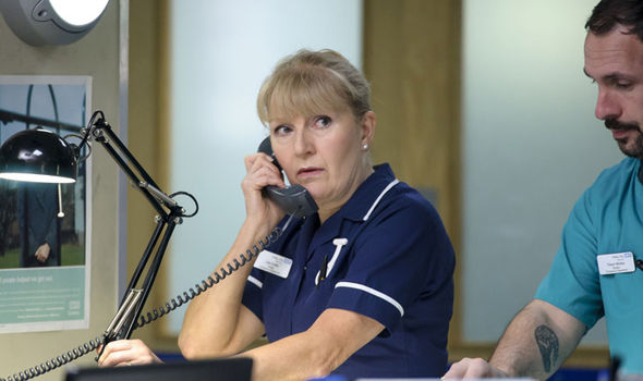 Catherine Shipton as Nurse Duffy in Casualty