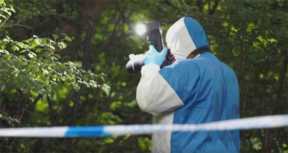 Police crime scene investigation