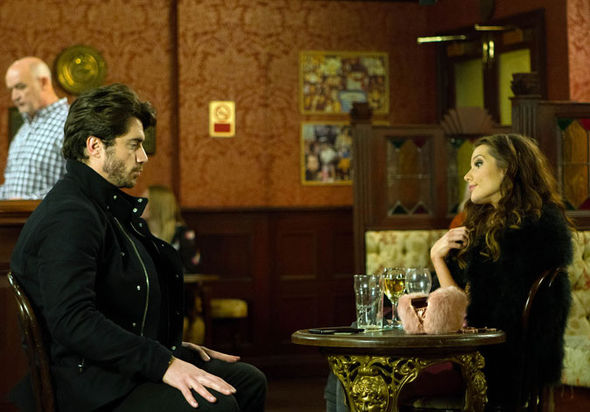 Adam Barlow and Rosie Webster have a drink