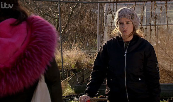Sophie Webster in the allotment