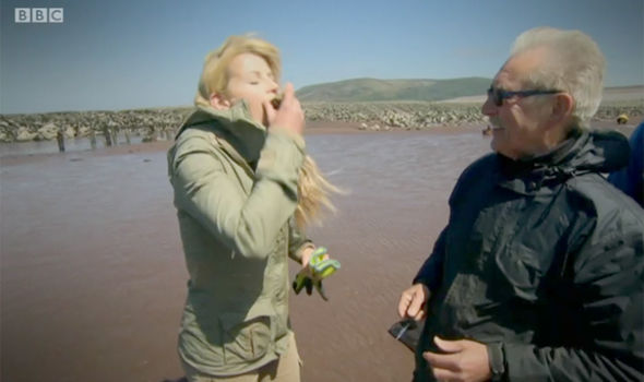 Countryfile star Ellie Harrison eats a raw oyster