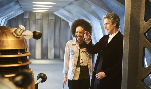 Peter Capaldi as the Time Lord with Bill in Doctor Who
