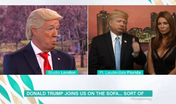 The Donald Trump impersonators on This Morning try to out-do each other