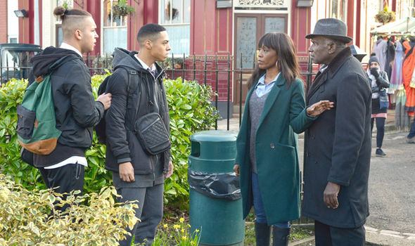 Patrick Trueman gets involved in the argument in EastEnders