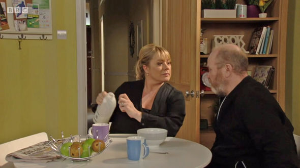 EastEnders Was Phil Mitchell hoping for some fruit instead of the milk?