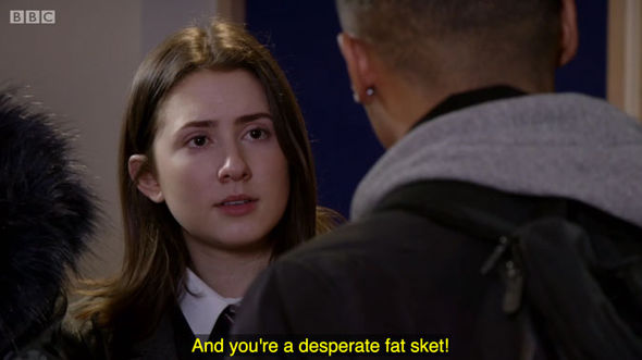 EastEnders bus crash fat sk*t subtitle fail Bex