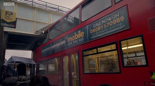 EastEnders bus crash second disaster tube Carter