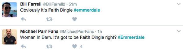 Emmerdale viewers' tweets