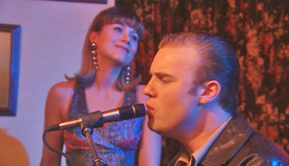 Gary Barlow singing while playing Micky Shannon in ITV's Heartbeat