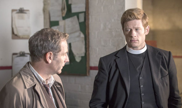 Robson Green as Geordie Keating and James Norton as Sidney Chambers in Grantchester