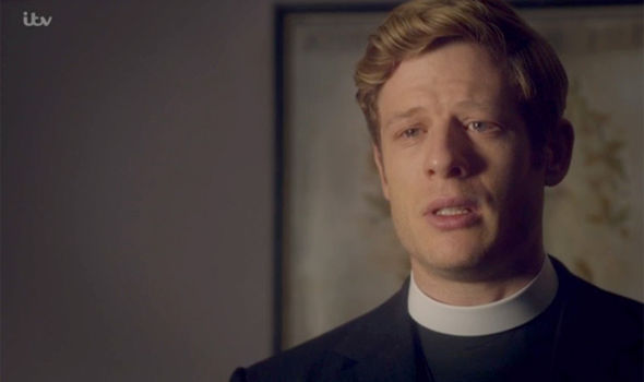 Sidney Chambers was left distraught as he chose the church in Grantchester