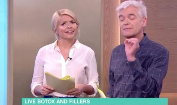 Holly Willoughby looks uncomfortable talking about botox