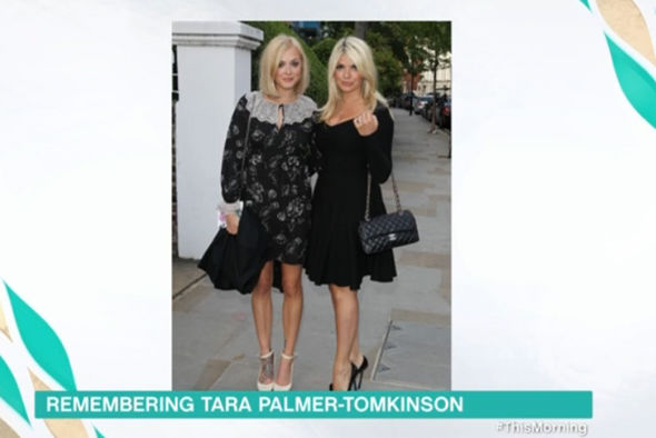 Holy Willoughby dressed by Tara Palmer-Tomkinson