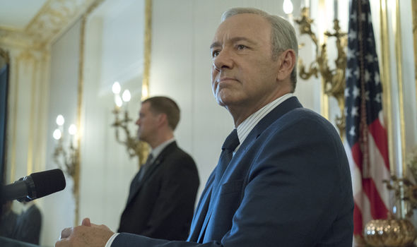 Kevin Spacey as Frank Underwood in House of Cards season 5