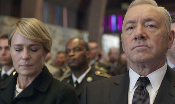 House of Cards season 5, episode 1: Frank and Claire attending a funeral
