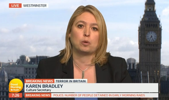 Culture Secretary Karen Bradley was grilled on Good Morning Britain
