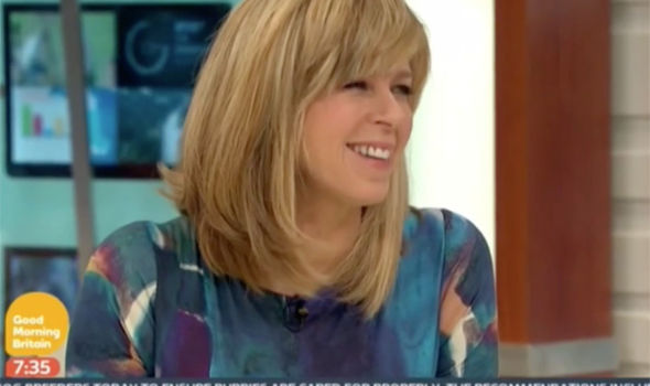 Kate Garraway was not pleased when the knicker flash came up