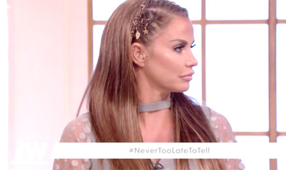 Katie Price spoke about her horrific experiences on Loose Women