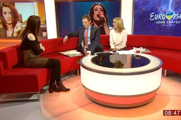 Lucie Jones on BBC Breakfast