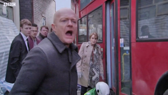 Max Branning told people to lift the bus