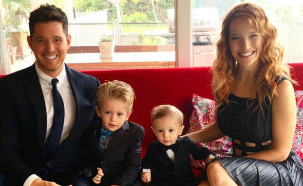 Michael Buble, Luisana and son Noah