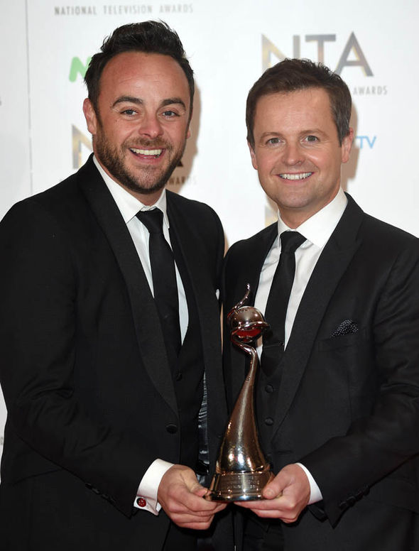 Ant and Dec with NTA awards