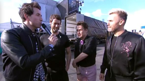 Nick Grimshaw and Take That