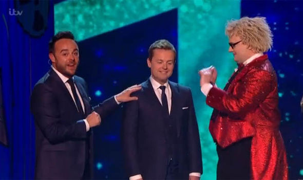 Bonkers magician Niels Harder performed a trick on Dec but the judges were not convinced
