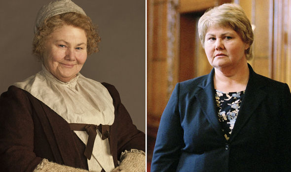 Annette Badland in Outlander and as an alien in Doctor Who