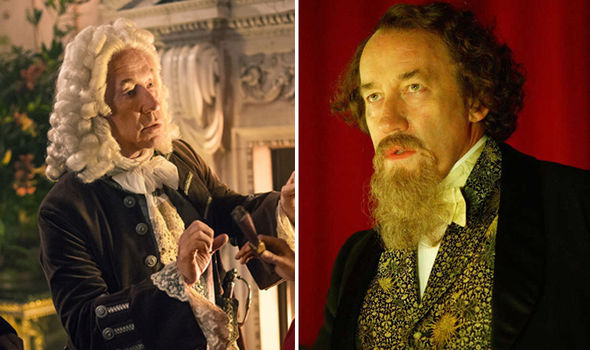 Simon Callow in Outlander and as Charles Dickens in Doctor Who