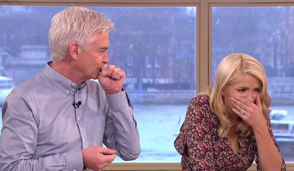 Phillip Schofield and Holly Willoughby gag