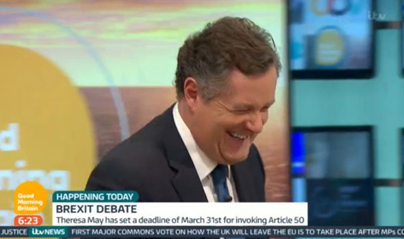 Piers Morgan eventually returned to Good Morning Britain