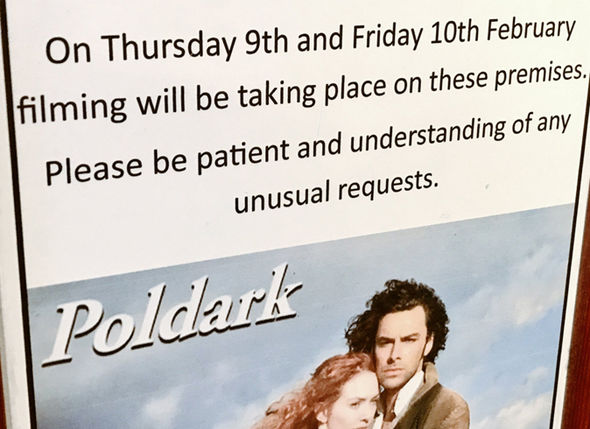 Poldark season 3 Residents tweet about the filming in Wells