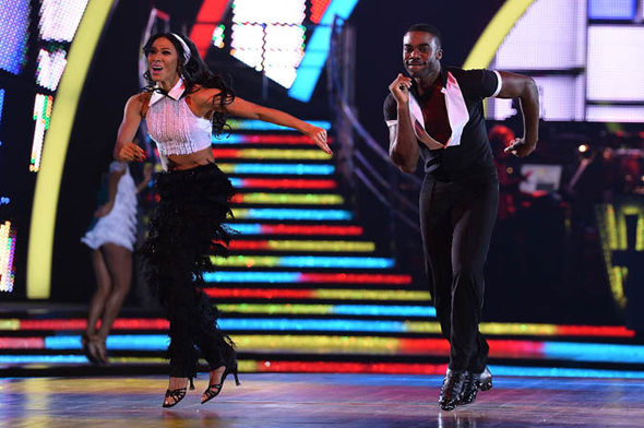 Karen Clifton and Ore Oduba dancing