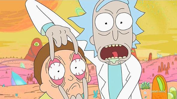Rick and Morty season three on Adult Swim
