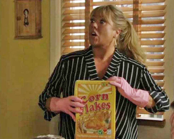 Sharon has previously been known to use dirty gloves to touch Phil's cereal after cleaning a toilet
