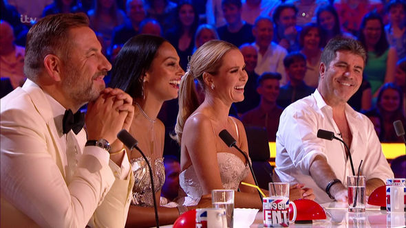 Simon Cowell with his fellow judges on Britain's Got Talent