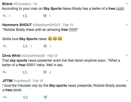 Sky Sports News viewer tweets