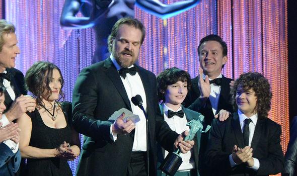 Stranger Things star David Harbour hits out at Trump at the Screen Actors Guild Awards