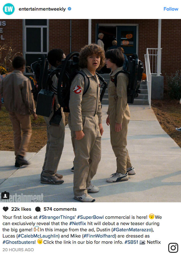 Stranger Things Season 2 Netflix first photo Ghostbusters