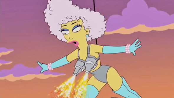 Super Bowl 2017 Lady Gaga's half-time jump on The Simpsons