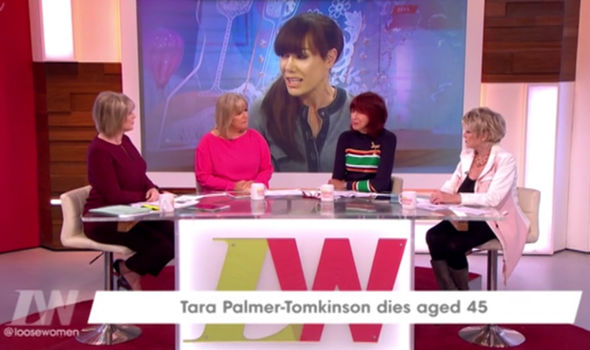 The Loose Women pay tribute to party girl Tara Palmer-Tomkinson