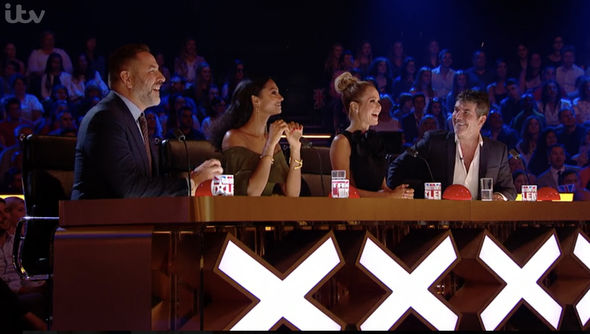 The Britain's Got Talent judges watched on