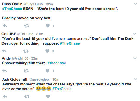 The Chase viewer tweets