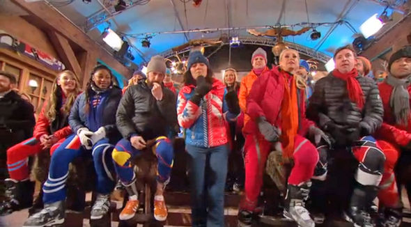 The Jump 2017 Sir Bradley Wiggins spits his chewing gum on the floor