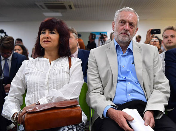 Jeremy Corbyn and his wife